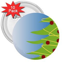 Christmas Tree Christmas 3  Buttons (10 Pack)  by Nexatart
