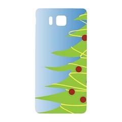 Christmas Tree Christmas Samsung Galaxy Alpha Hardshell Back Case by Nexatart