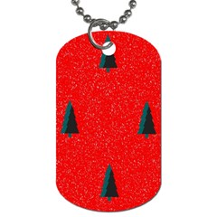 Christmas Time Fir Trees Dog Tag (Two Sides)