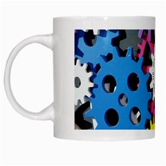 Colorful Toothed Wheels White Mugs by Nexatart