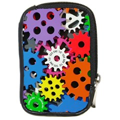 Colorful Toothed Wheels Compact Camera Cases by Nexatart