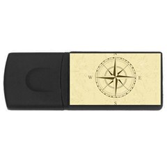 Compass Vintage South West East Usb Flash Drive Rectangular (4 Gb) by Nexatart
