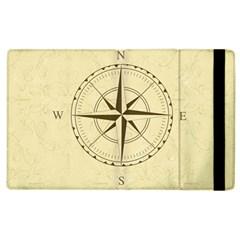Compass Vintage South West East Apple Ipad 3/4 Flip Case by Nexatart