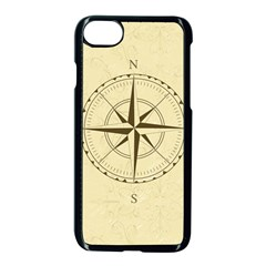 Compass Vintage South West East Apple iPhone 7 Seamless Case (Black) by Nexatart