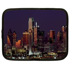 Dallas Texas Skyline Dusk Netbook Case (XL)  by Nexatart