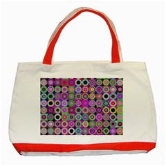 Design Circles Circular Background Classic Tote Bag (Red)