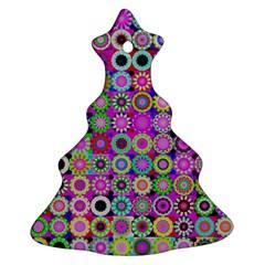 Design Circles Circular Background Ornament (christmas Tree)  by Nexatart
