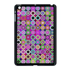 Design Circles Circular Background Apple Ipad Mini Case (black) by Nexatart