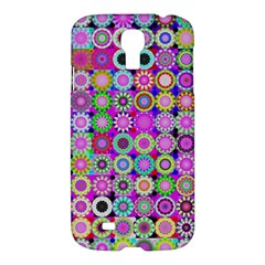 Design Circles Circular Background Samsung Galaxy S4 I9500/i9505 Hardshell Case by Nexatart