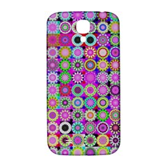 Design Circles Circular Background Samsung Galaxy S4 I9500/i9505  Hardshell Back Case by Nexatart