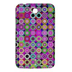 Design Circles Circular Background Samsung Galaxy Tab 3 (7 ) P3200 Hardshell Case  by Nexatart