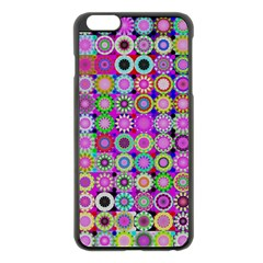 Design Circles Circular Background Apple Iphone 6 Plus/6s Plus Black Enamel Case by Nexatart