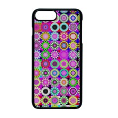 Design Circles Circular Background Apple iPhone 7 Plus Seamless Case (Black) by Nexatart