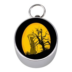 Death Haloween Background Card Mini Silver Compasses by Nexatart