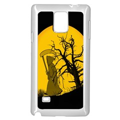 Death Haloween Background Card Samsung Galaxy Note 4 Case (white) by Nexatart