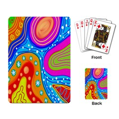 Doodle Pattern Playing Card