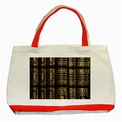 Detail Golden Gold Ornaments Classic Tote Bag (red) by Nexatart