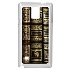 Detail Golden Gold Ornaments Samsung Galaxy Note 4 Case (white) by Nexatart