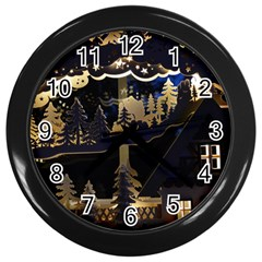 Christmas Advent Candle Arches Wall Clocks (black) by Nexatart