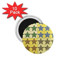 Pattern With A Stars 1 75  Magnets (10 Pack)  by Nexatart