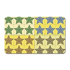 Pattern With A Stars Magnet (rectangular)