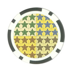 Pattern With A Stars Poker Chip Card Guard (10 Pack) by Nexatart