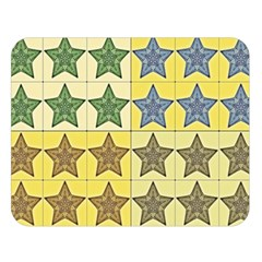 Pattern With A Stars Double Sided Flano Blanket (large)  by Nexatart