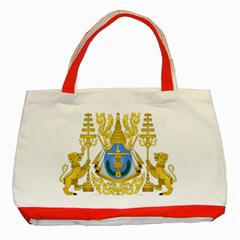Royal Arms of Cambodia Classic Tote Bag (Red) by abbeyz71