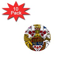 Coat Of Arms Of Canada  1  Mini Magnet (10 Pack)  by abbeyz71