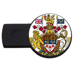 Coat Of Arms Of Canada  Usb Flash Drive Round (4 Gb) by abbeyz71