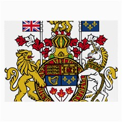 Coat Of Arms Of Canada  Large Glasses Cloth by abbeyz71