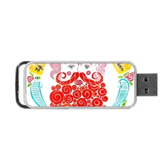 Life Is Art  Portable Usb Flash (one Side) by Toriak