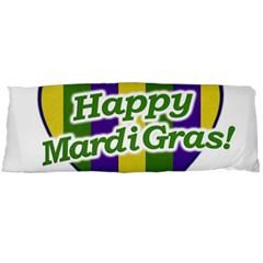 Happy Mardi Gras Logo Body Pillow Case Dakimakura (two Sides) by dflcprints