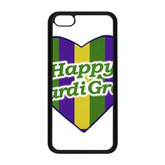 Happy Mardi Gras Logo Apple Iphone 5c Seamless Case (black) by dflcprints