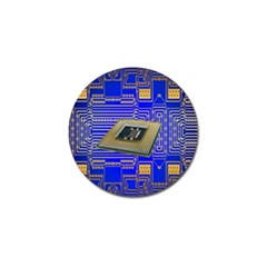 Processor Cpu Board Circuits Golf Ball Marker (10 Pack) by Nexatart