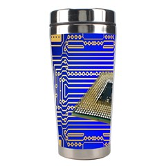 Processor Cpu Board Circuits Stainless Steel Travel Tumblers by Nexatart