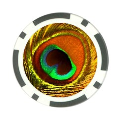 Peacock Feather Eye Poker Chip Card Guard by Nexatart