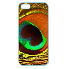 Peacock Feather Eye Apple Seamless Iphone 5 Case (color) by Nexatart