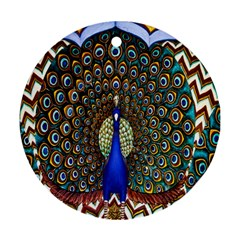 The Peacock Pattern Ornament (Round)