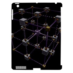 Grid Construction Structure Metal Apple iPad 3/4 Hardshell Case (Compatible with Smart Cover) by Nexatart