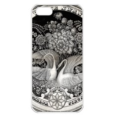 Swans Floral Pattern Vintage Apple Iphone 5 Seamless Case (white) by Nexatart