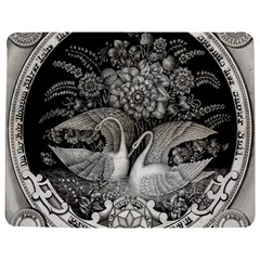 Swans Floral Pattern Vintage Jigsaw Puzzle Photo Stand (rectangular) by Nexatart