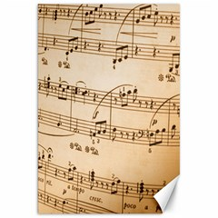 Music Notes Background Canvas 20  X 30   by Nexatart