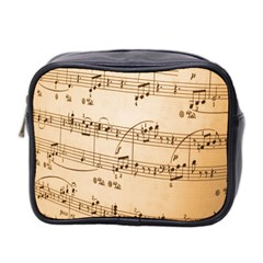 Music Notes Background Mini Toiletries Bag 2-Side by Nexatart