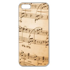 Music Notes Background Apple Seamless Iphone 5 Case (clear) by Nexatart