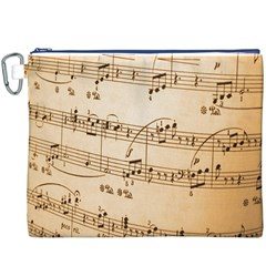 Music Notes Background Canvas Cosmetic Bag (xxxl) by Nexatart