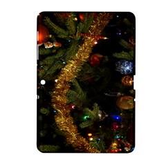 Night Xmas Decorations Lights  Samsung Galaxy Tab 2 (10 1 ) P5100 Hardshell Case  by Nexatart