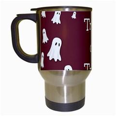 Halloween Free Card Trick Or Treat Travel Mugs (white) by Nexatart