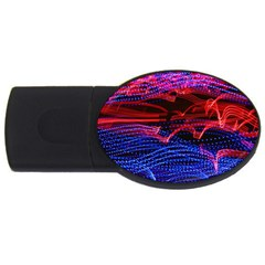 Lights Abstract Curves Long Exposure Usb Flash Drive Oval (4 Gb) by Nexatart
