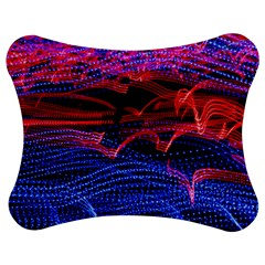Lights Abstract Curves Long Exposure Jigsaw Puzzle Photo Stand (Bow) by Nexatart